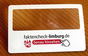 Lupe des Faktenchecks Limburg
